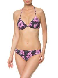 Naturana Bikini in Schwarz/ Lila/ Weiß
