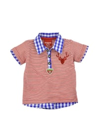 "Bondi Poloshirt ""Gipfelstürmer"" in Rot/ Weiß/ Blau"