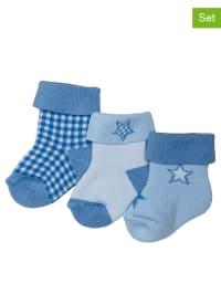 Ewers 3er-Set: Socken in Blau/ Hellblau