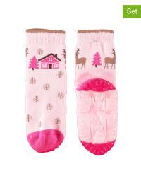Sterntaler 2er-Set: Anti-Rutsch-Socken in Rosa/ Pink