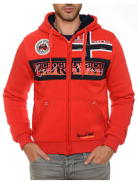 """Geographical Norway Sweatjacke """"Frivolle"""" in Rot"""