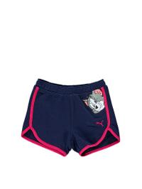 Puma Shorts in Dunkelblau/ Pink