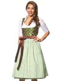 """Turi Landhaus Midi-Dirndl """"Emily"""" in Grün/ Braun"""