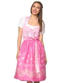 """Turi Landhaus Midi-Dirndl """"Monika BW"""" in Rosa/ Pink"""