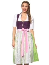 """Turi Landhaus Midi-Dirndl """"Helga"""" in Lila/ Grün/ Rosa"""
