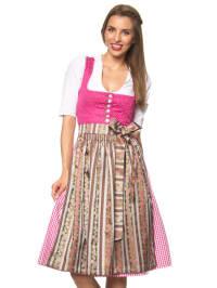 """Turi Landhaus Midi-Dirndl """"Beatrix"""" in Pink/ Bunt"""