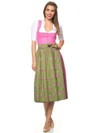 """Turi Landhaus Maxi-Dirndl """"Kim"""" in Pink/ Grün"""