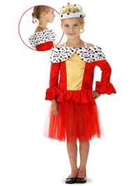 """FOLAT Kostüm """"Königin"""" in Rot/ Bunt"""