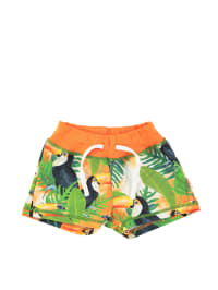 "Wild Shorts ""Lazy"" in Grün/ Orange"