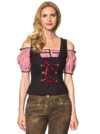 "Stockerpoint Trachtenbluse ""Yona"" in Schwarz/ Rot"