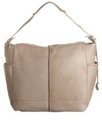 Marc O'Polo Leder-Schultertasche in Taupe - (B)33 x (H)28 x (T)11,5 cm