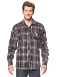 Longboard Fleecehemd in Grau