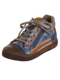 Romagnoli Leder-Sneakers in Blau