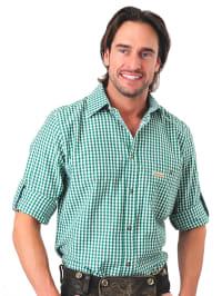 Stockerpoint Trachtenhemd in Grün/ Weiß