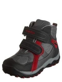 "Geox Boots ""Alaska B"" in Anthrazit/ Rot"