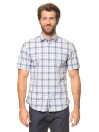 Marc O'Polo Hemd in Weiß/ Hellblau