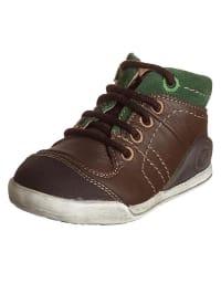 Biomecanics Leder-Sneakers in Braun