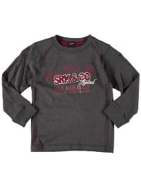 SRK Longsleeve in Anthrazit/ Bordeaux