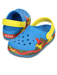 "Crocs Clogs ""Lights Dinosaur"" in Blau/ Gelb/ Rot"