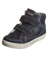 "Grünland Junior Leder-Sneakers ""Surf"" in Dunkelblau/ Bunt"