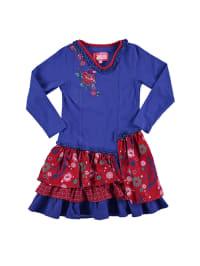 Paglie Kleid in Blau/ Rot
