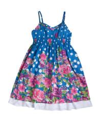 Topo Kleid in Blau/ Weiß/ Rosa