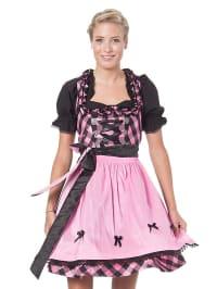 LEKRA Mini-Dirndl in rosa/ schwarz