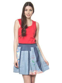 """Desigual Kleid """"Onalimo"""" in Rot/ Blau"""