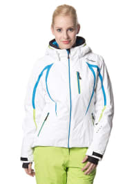 Hyra Ski-/ Snowboardjacke in Weiß/ Blau
